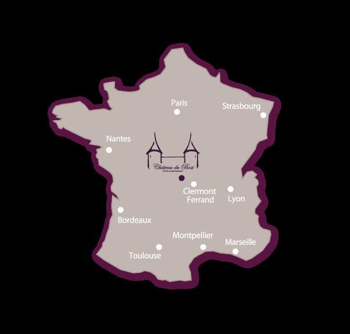 Situation du Château Du Bost